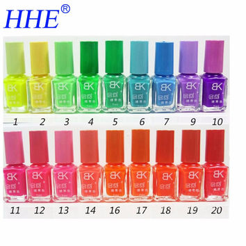20 Colors Nail Polish Popular Glow In the dark Luminous Nail Art Fluorescent Neon for Nail Varnish  Nail Enamel