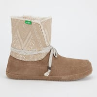 Sanuk Soulshine Chill Womens Boots Tan  In Sizes