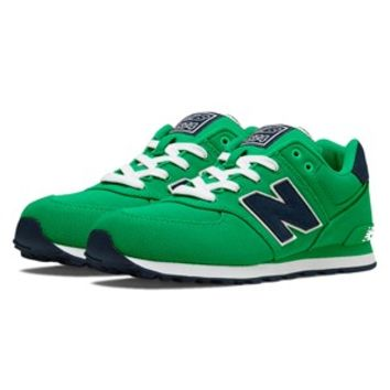 "Men's New Balance 574 ""Pique Polo"" Pack (Green/Navy) at Sport Seasons"