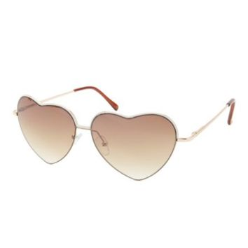 PAINTED METAL HEART-SHAPED SUNGLASSES
