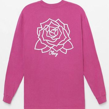 ONETOW OBEY Mira Rosa Pigment Long Sleeve T-Shirt at PacSun.com