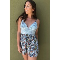 Day Dreaming Romper- Blue