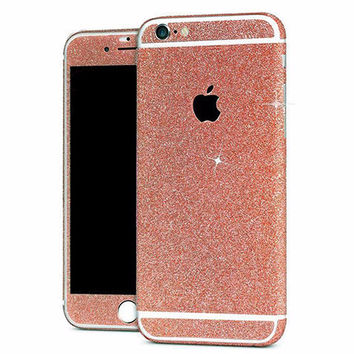 Rose Gold Glitter Decal Full Body Stickers for iPhone