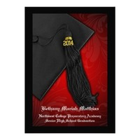 2014 Red w/ Black Tassel Charm Graduation
