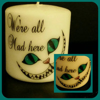 Cheshire cat inspired candle - Alice in wonderland