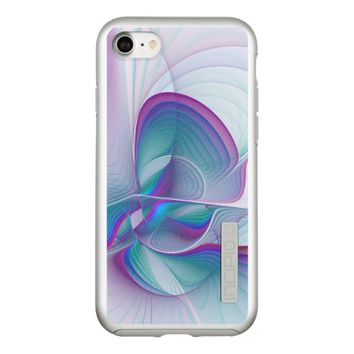 Colorful Modern Pink Blue Turquoise Fractal Art Incipio DualPro Shine iPhone 7 Case