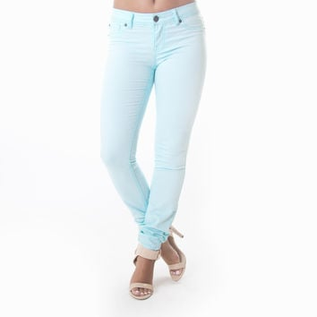 Classic Skinny Pants In Sky Blue