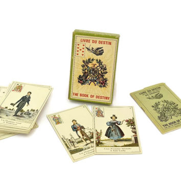 The Book of Destiny by B.P. Grimaud. 1974 Game Tarot Cards Deck France. French Vintage Cartomancy cards.