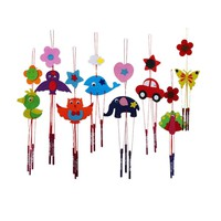 Kids Educational Toy Colorful DIY Campanula Wind Chime Kids Children Kindergarten Manual Arts and Crafts Magic Trick Toys