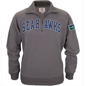 Seattle Seahawks - Striker 1/4 Zip Premium Sweatshirt