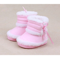 Casual Baby Girls Princess Ankle Snow Boots