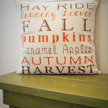 Fall Subway Art Pillow Cover