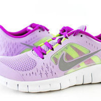 NIKE FREE RUN 3 (GS) 512098-500 VIOLET BOY GIRL = WOMEN SIZES SHOES