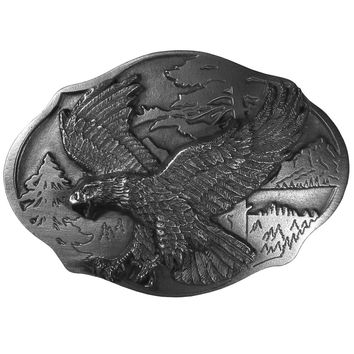 Sports Accessories - Flying Eagle  Antiqued Belt Buckle