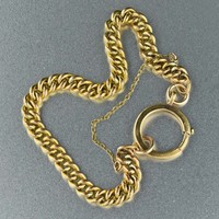 Vintage 18K Rolled Gold Antique Chain Bracelet 1900s