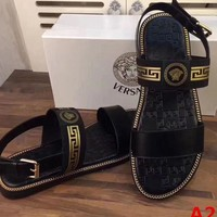 Versace Trending Women Men Leisure Slippers Sandals Shoe I