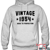 VINTAGE 1954 - Aged To Perfection - Birthday hoodie