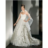 Fancy A-line sleeveless tulle wedding dress style 0bg00547 - $457| weddingdressbee.com