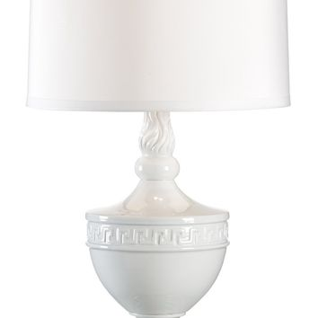 Gate Post Finial Lamp | White