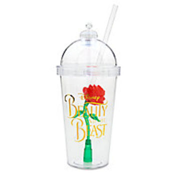Enchanted Rose Light-Up Dome Tumbler with Straw - Beauty and the Beast