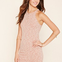 Marled Knit Ribbed Dress