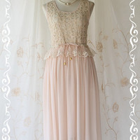 Marie  Mid Maxi Dress Sweet Pastel Light by LovelyMelodyClothing