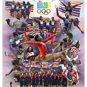 Sisters in Motion II: Olympic Soul (Rio 2016) Wishum Gregory (Mini) Art Print