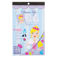 ConsumerCrafts Product Kids Sticker Book: Dress Up Diva Fashion Stickers