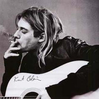 Kurt Cobain Nirvana Smoke Break Poster 22x34