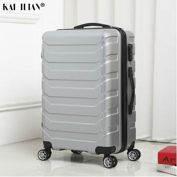 ABS+PC spinner rolling luggage carry-on suitcase on wheel - 20/24 inch Silver fashion luggage