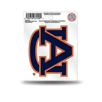 Auburn Tigers Logo Static Cling Auto Decal Car Sticker Small SS