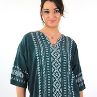 Vintage 70s mexican embroidered shirt tunic top