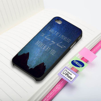 John Green Quotes Stars Nebula Phone Case for iPhone and Samsung Galaxy