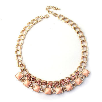 Blush Pink Collar Necklace