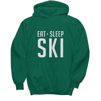 Eat Sleep Ski Sking For Slope Lovers and Fans Sweater Hoodie