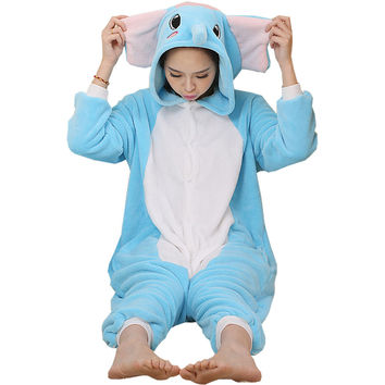 Elephant Pajamas Halloween Costume Cosplay Homewear Lounge Wear
