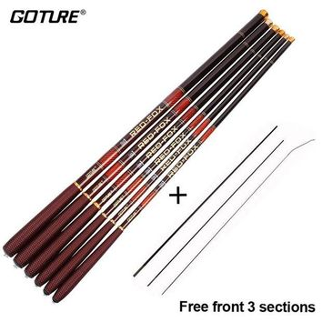 DCCKUH3 Goture Ultra Light Stream Hand Fishing Rod 2.7M 3.6M 4.5M 5.4M 6.3M 7.2m Telescopic Carbon Fiber Feeder Fishing Rod Carp Pole