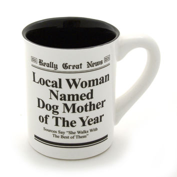 Dog Mother Of The Year Headline Coffee Mug