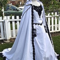 Gothic Fairy Medieval or Renaissance Style Fantasy Set with Cape Custom