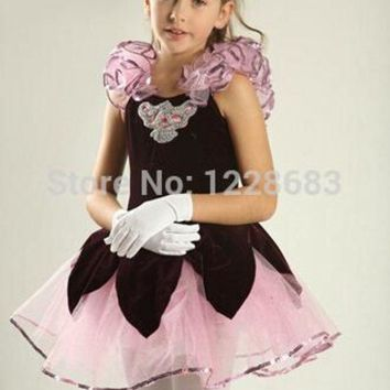 ESB1ON Dance Wear Girl Party Dress Tutu Dress Toddler Ballet Clothes Ballerina Dress Kids Tutus For Teens