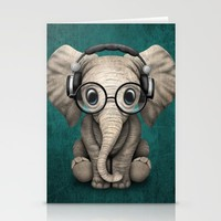 Hip Elephant Stationery Cards by Dkskustomgear