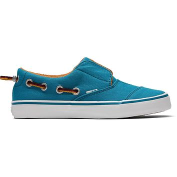 TOMS - Youth Pasadena Harbor Blue Canvas Slip-Ons