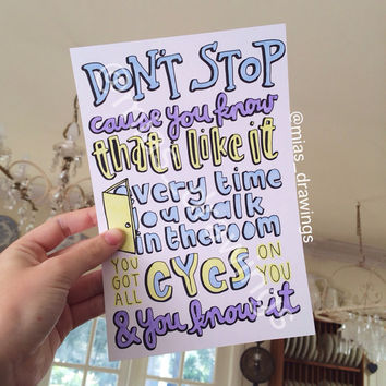 Don't Stop - 5SOS lyric art