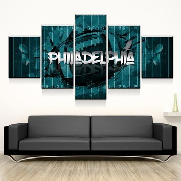 Philadelphia Eagles Super Bowl Champions Five Piece Canvas