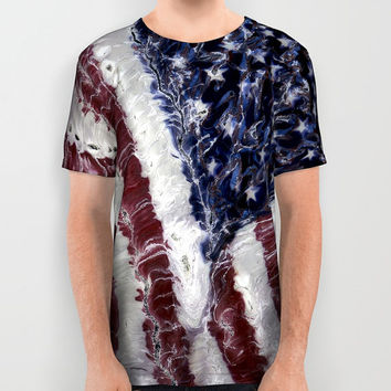Designer American Apparel American Flag Clothing, Shirt, Top for Girls, Boys, Women, Men, Unisex, Fourth of July Outfit, Moisture Wicking