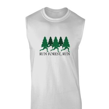 Run Forest Run Funny Muscle Shirt  by TooLoud