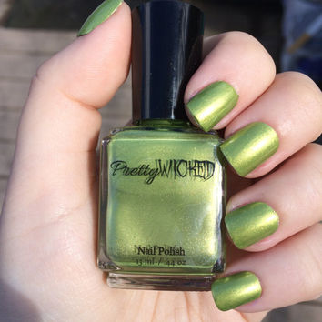 Lime Green Nail Polish, Green Nail Polish, Metallic Nail Polish