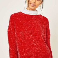 Urban Outfitters Chenille Crew Neck Jumper | Urban Outfitters