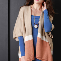 Short Sleeves Color Block Cardigan | UrbanOG
