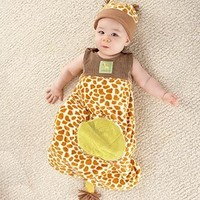 Giraffe Snuggle Sack and Hat, 0-6 Months by Baby Aspen - Personalize It!